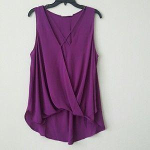 Surplice sleeveless blouse by Lush